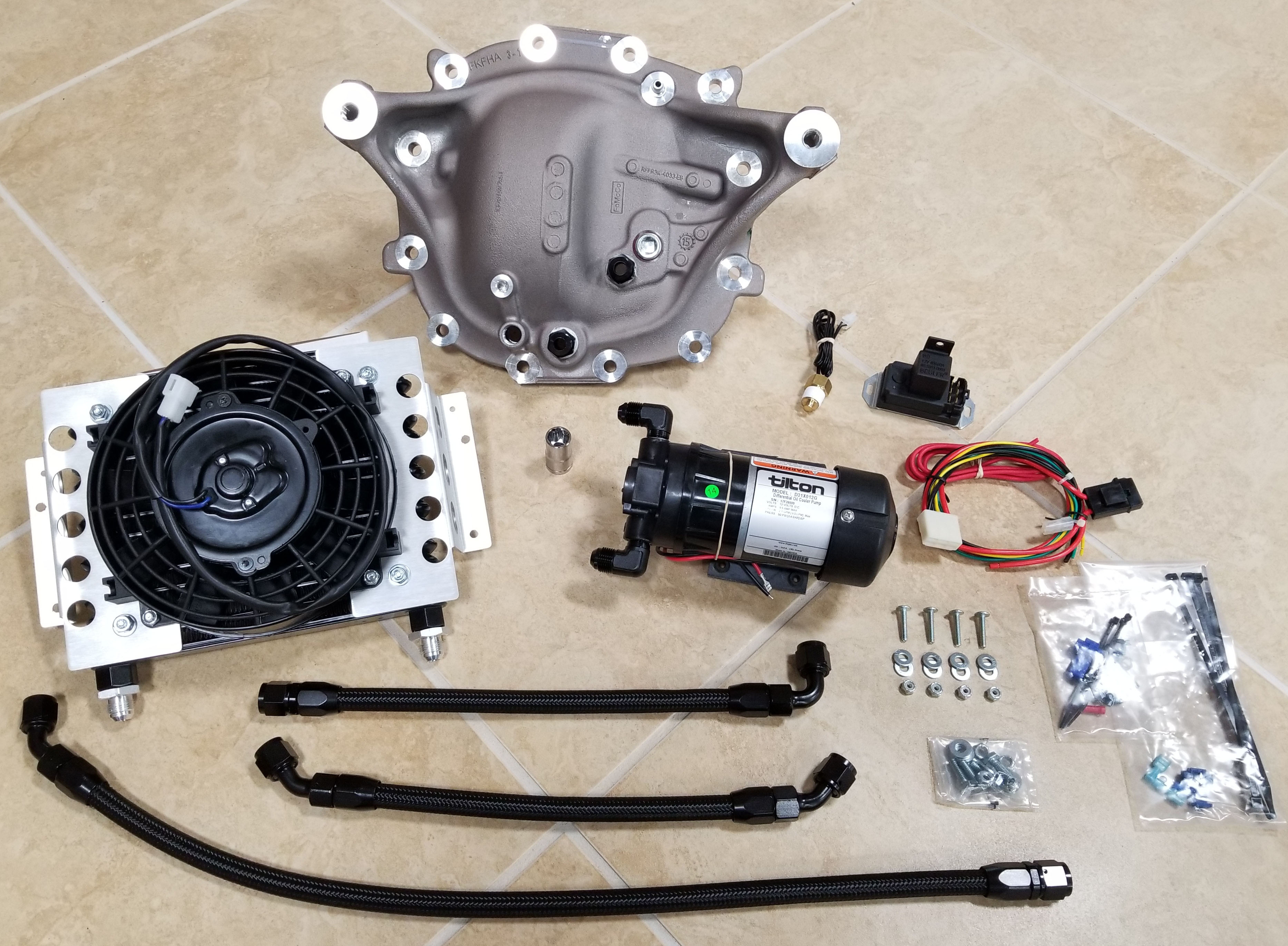 Rear Differential Cooler Kits : S diff cooler kit